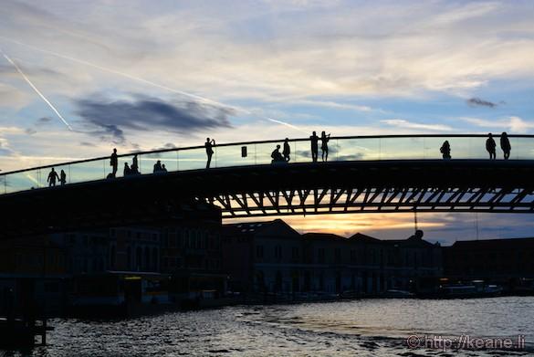 Ponte della Costituzione in Venice at Sunset