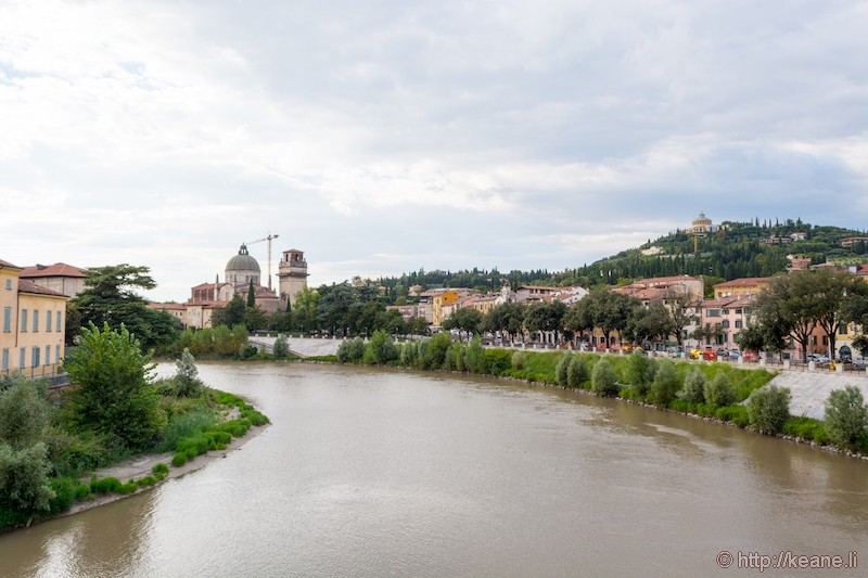 View from Ponte Pietra in Verona