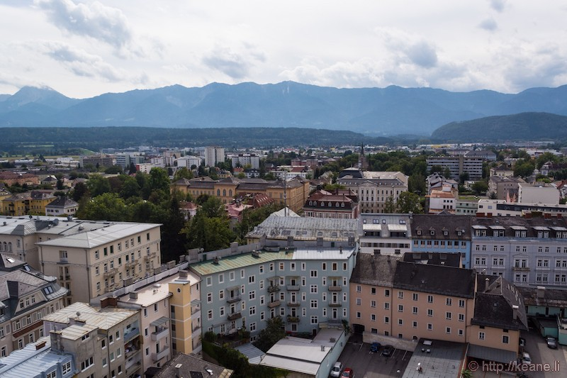 View of Villach from the Bell Tower of St. Jakob's Church