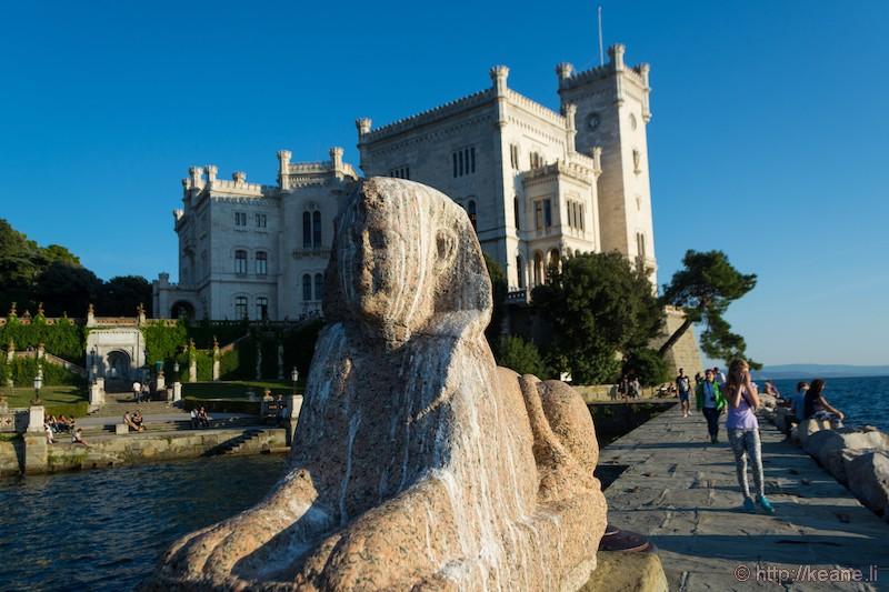 Sphinx at the Castello di Miramare