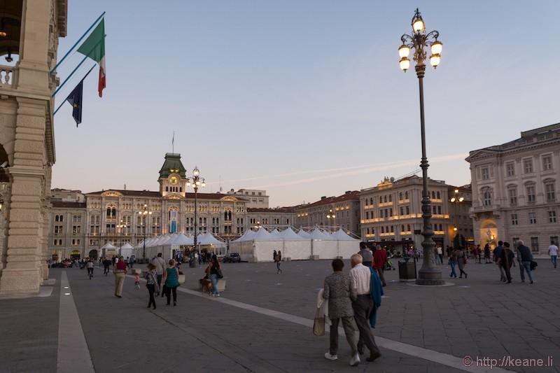 Piazza Unità d'Italia in Trieste at Sunset