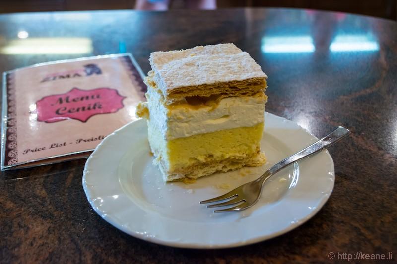 Bled Cream Cake at Slaščičarna Šmon