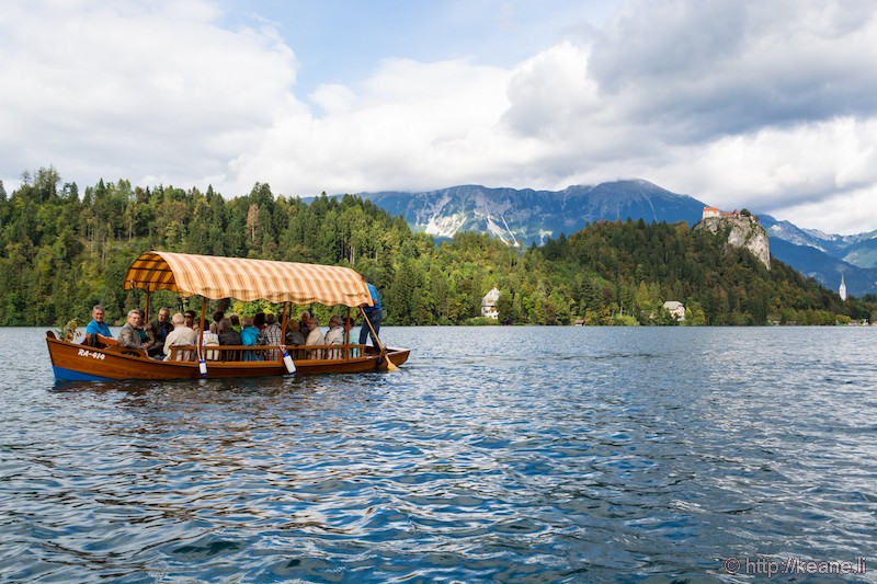Riding the Boat Back from Bled Island