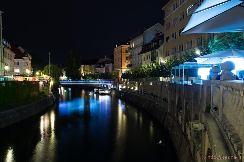 Ljubljanica River at Night