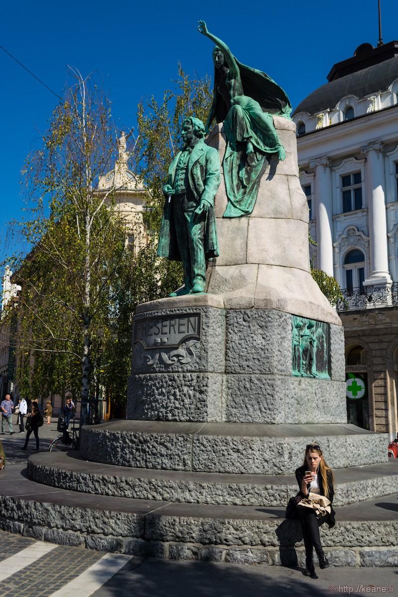 Prešeren Monument in Ljubljana