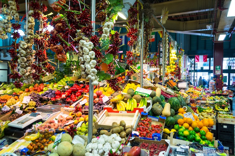 Produce in the Mercato Centrale of Florence