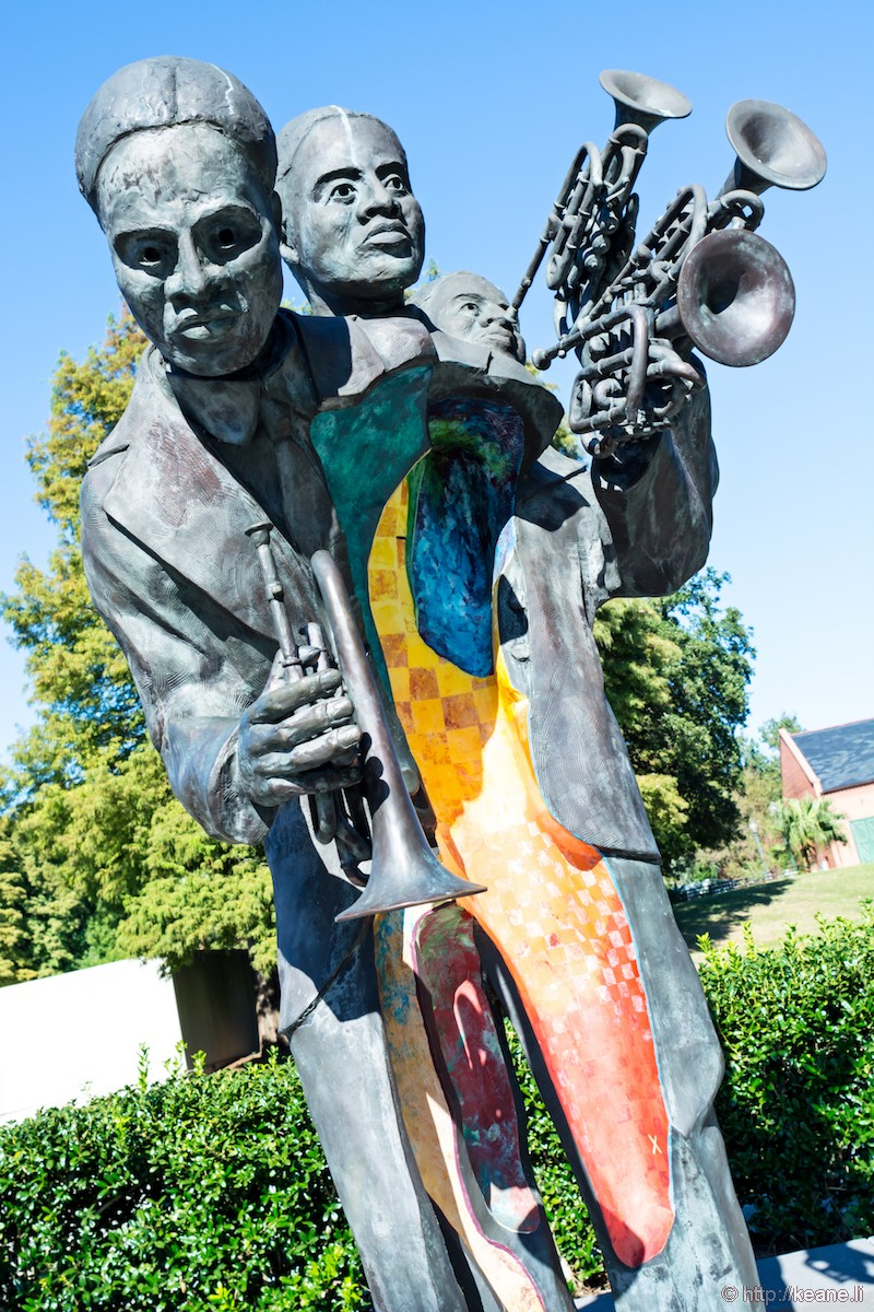 Buddy Bolden Statue in Louis Armstrong Park