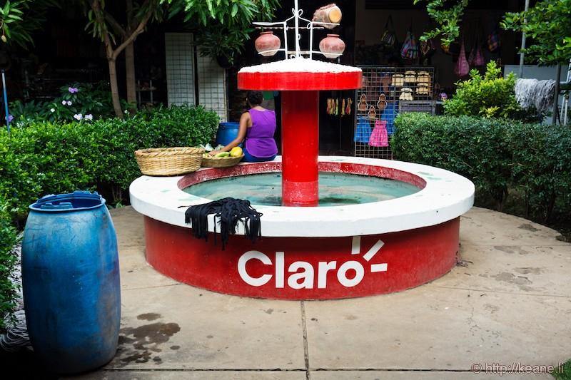 Fountain in Masaya Market in Nicaragua