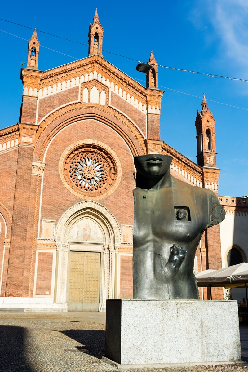 Igor Mitoraj Sculpture Outside the Chiesa di Santa Maria del Carmine