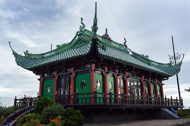Chinese Tea House Behind the Marble House in Newport