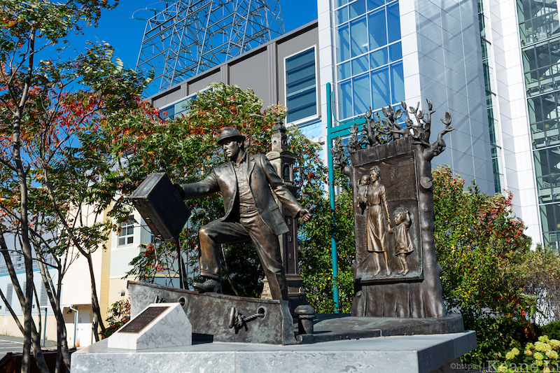 The Emigrant Statue in Halifax