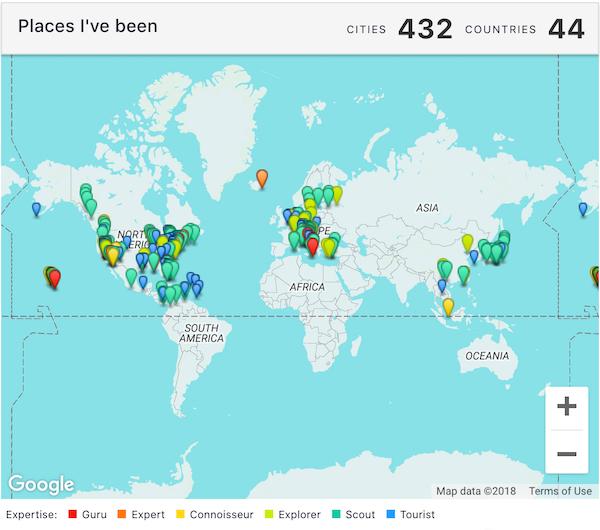 Where I've Been Map - Keane Li