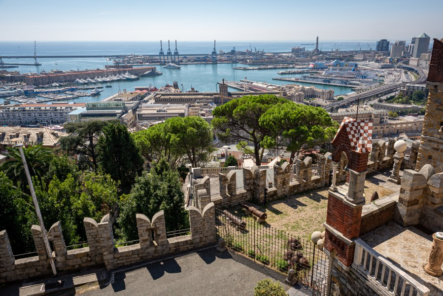 View from the Castello d'Albertis in Genoa