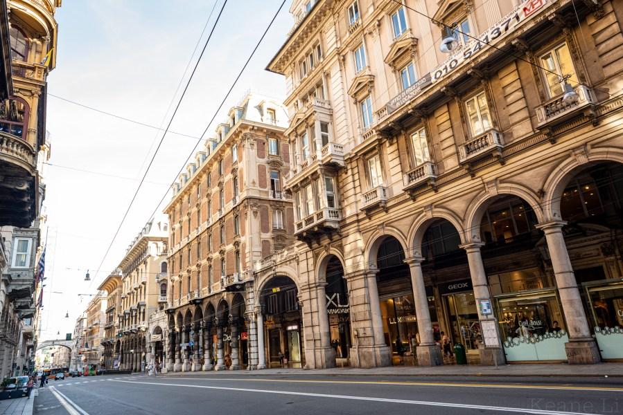 Via XX Settembre in Genoa
