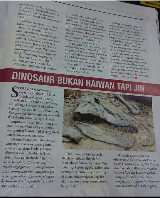 What? Dinosaurus adalah Jin
