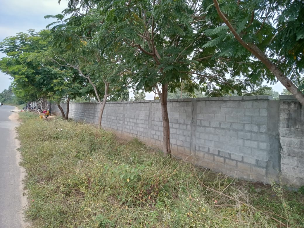 The completed wall around the Eden Campus