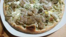 Detail hotového gyrosu- Pizza Gyros