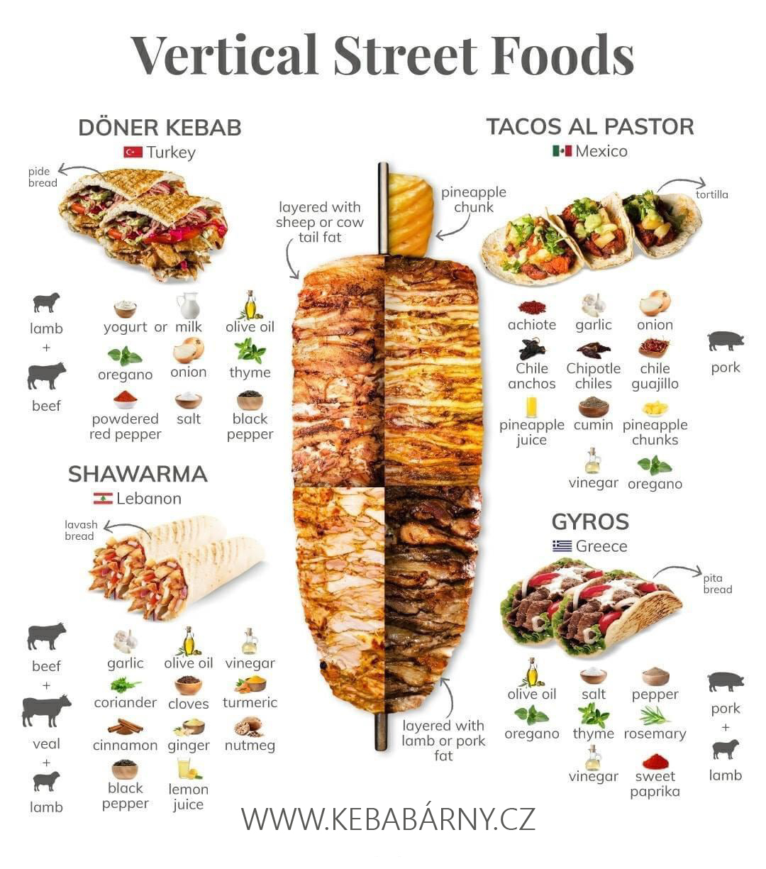 druhy kebabů
