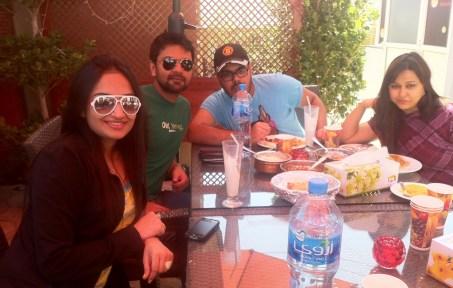 The RJs of 89.1 enjoy a meal at Kebab Bistro
