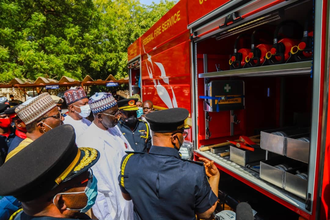 Bagudu commissions new modern Fire Fighting Vehicle, as Fed Fire Service takes off in Birnin Kebbi