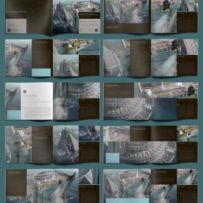 Architectural Design Portfolio US Letter Template - Layouts
