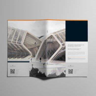 Architecture Portfolio A4 Bifold Template – kfea 2-min