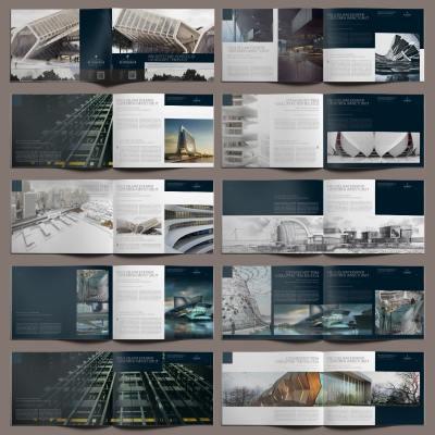 Architecture Portfolio Landscape Template - Layouts