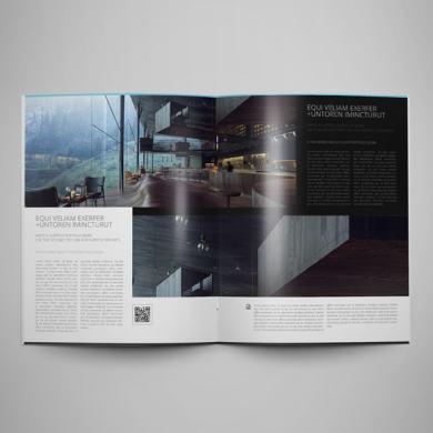 Architecture Portfolio US Letter Bifold Template – kfea 2-min
