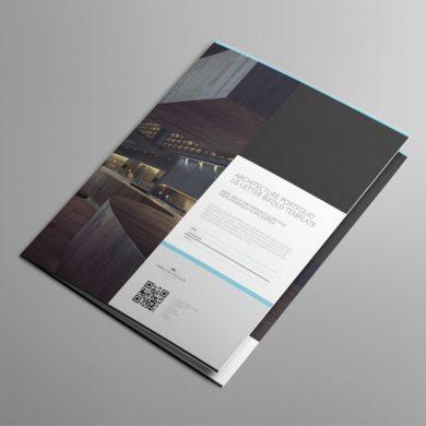 Architecture Portfolio US Letter Bifold Template – kfea 4-min