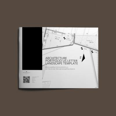 Architecture Portfolio US Letter Landscape Template