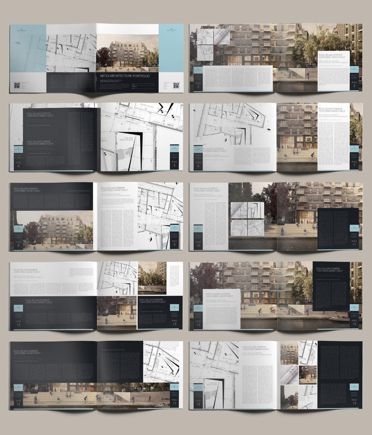 Artio Architecture Portfolio US Letter Landscape - Layouts