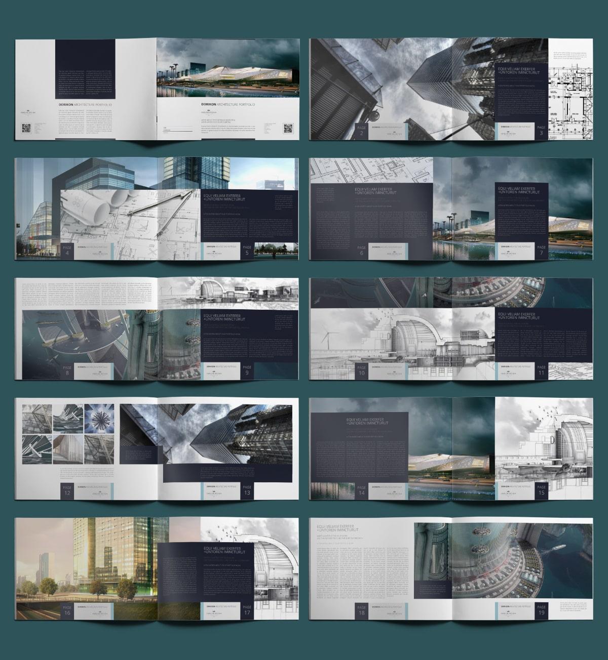 Dorikon Architecture Portfolio A4 Landscape - Layouts