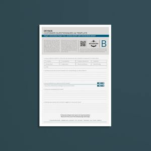 Ektasis Customer Questionnaire A4 Template