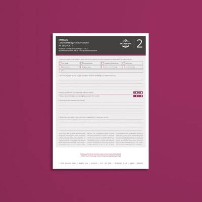 Entasis Customer Questionnaire A4 Template