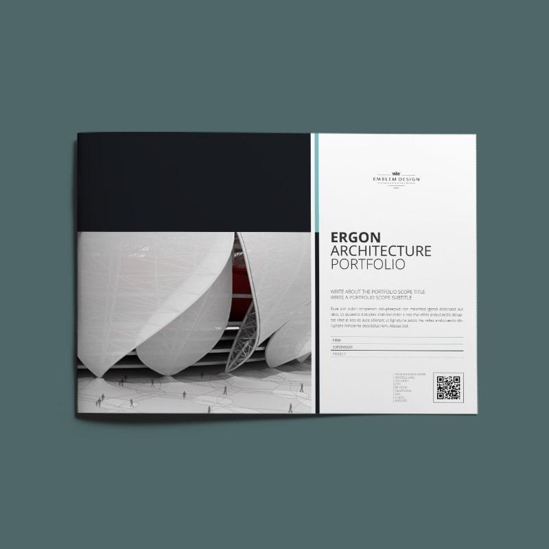 Ergon Architecture Portfolio A4 Landscape