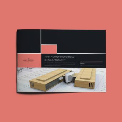 Hyper Architecture Portfolio A4 Landscape