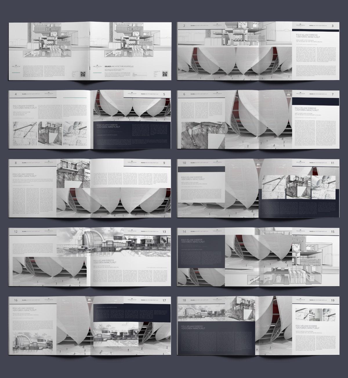 Iolkos Architecture Portfolio A4 Landscape - Layouts
