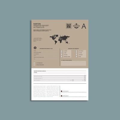 Karton Absentee Report A4 Template