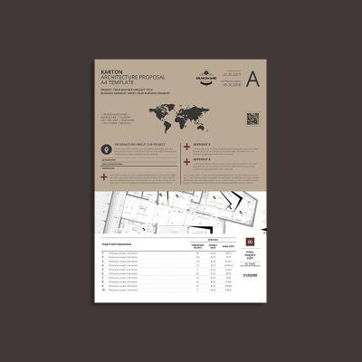 Karton Architecture Proposal A4 Template