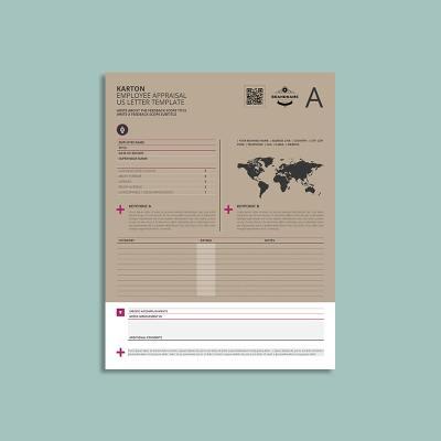 Karton Employee Appraisal US Letter Template