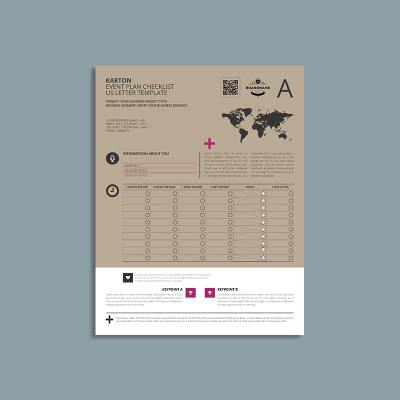 Karton Event Plan Checklist US Letter Template
