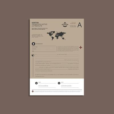 Karton Probation Notice A4 Template