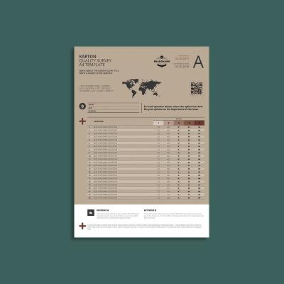 Karton Quality Survey A4 Template