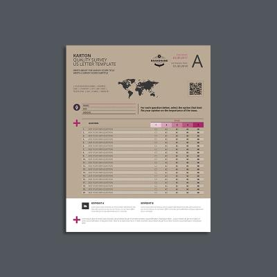 Karton Quality Survey US Letter Template