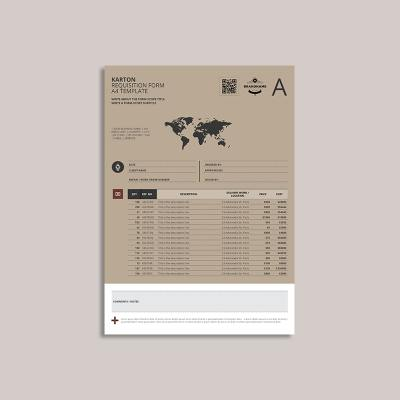 Karton Requisition Form A4 Template