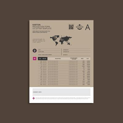 Karton Requisition Form US Letter Template