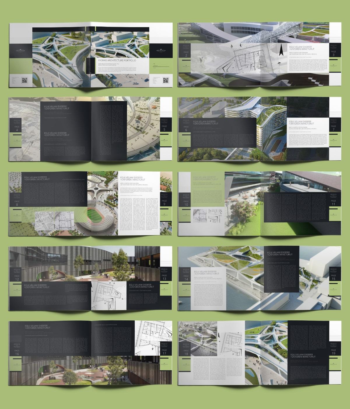 Kyonas Architecture Portfolio US Letter Landscape - Layouts