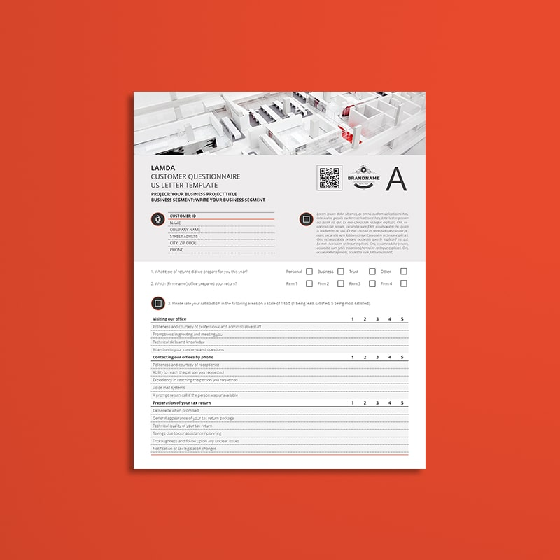 Lamda Customer Questionnaire US Letter Template