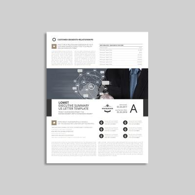 Lomet Executive Summary US Letter Template