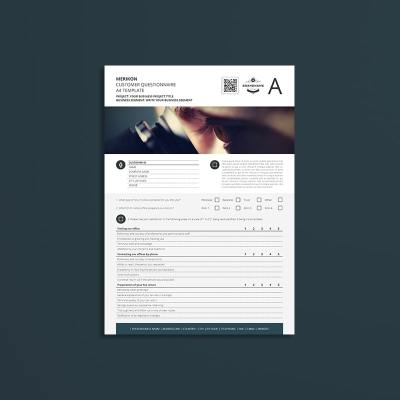 Merikon Customer Questionnaire A4 Template